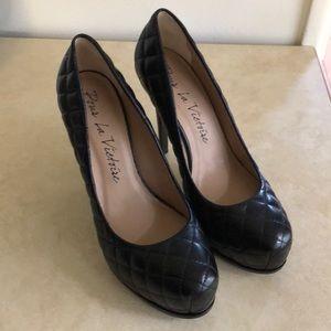 NWOT platform leather heels